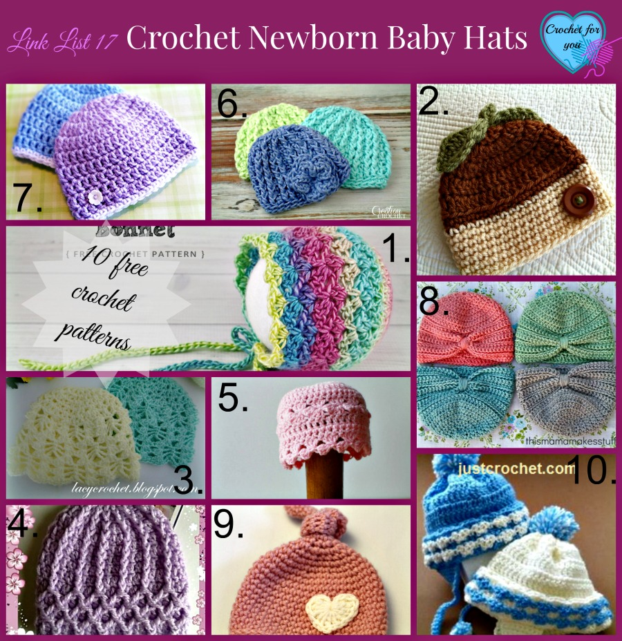 10 Free Crochet Newborn Baby Hat Patterns - Crochet For You
