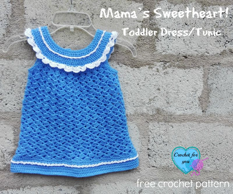 Mama's Sweetheart! Toddler Dress/Tunic – free crochet pattern