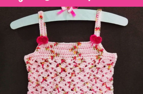 Mini Mini Bow Toddler Tank Top - free crochet pattern