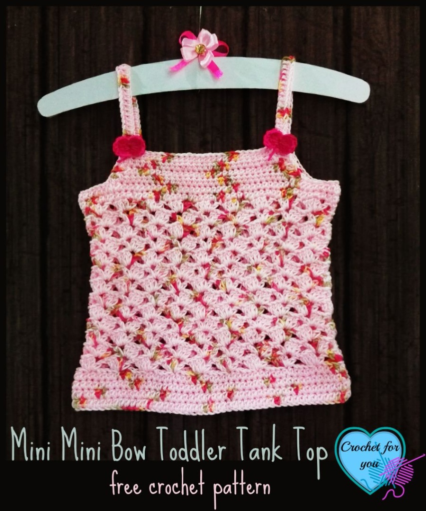 Mini Mini Bow Toddler Tank Top Free Crochet Pattern - Crochet For You