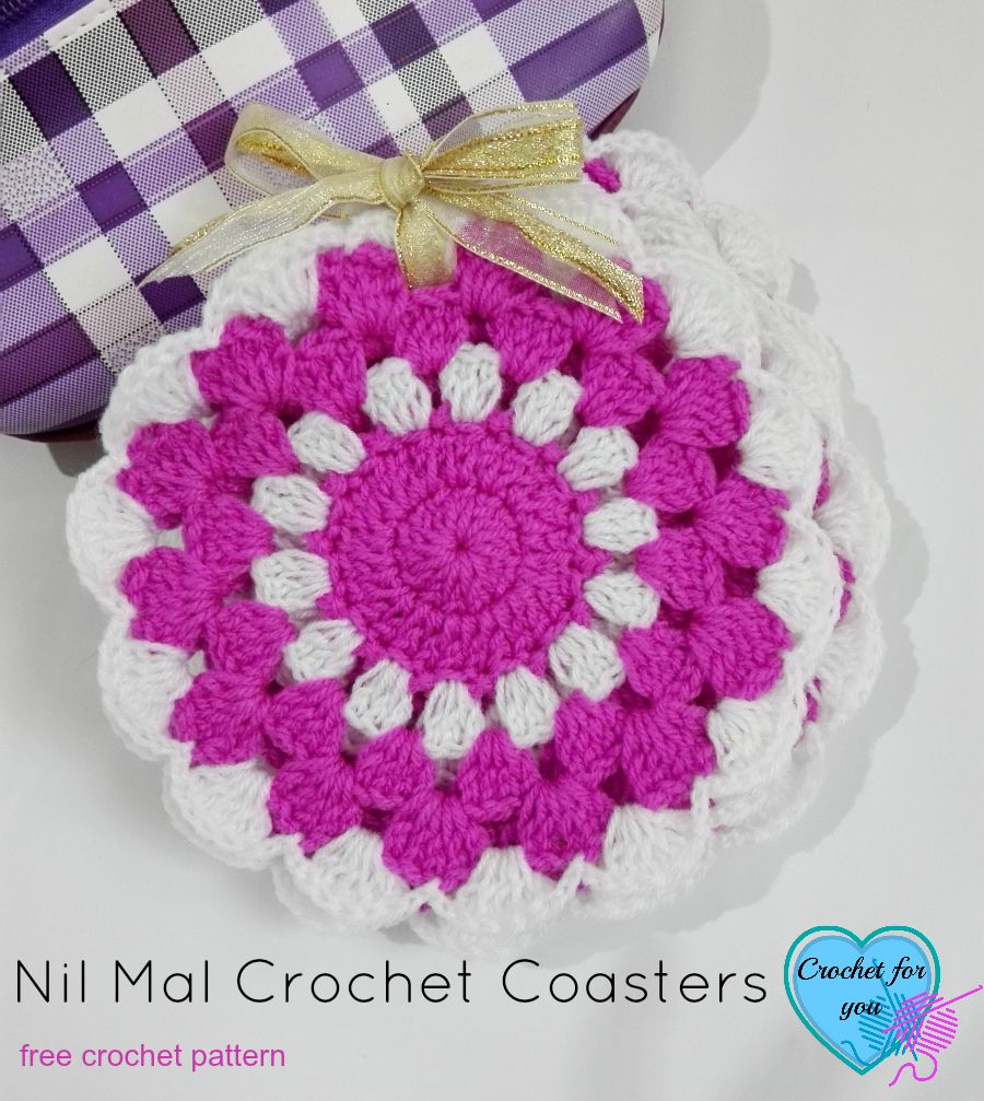 Nil Mal Crochet Coasters Free Pattern - Crochet For You