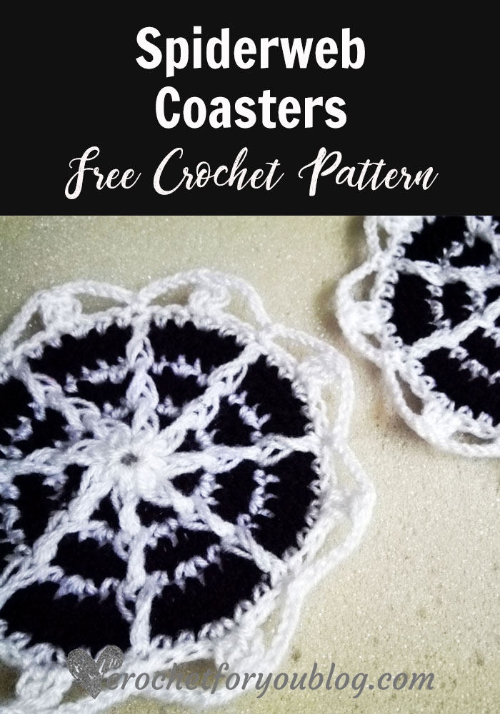 Spiderweb Coasters Free Crochet Pattern Crochet For You
