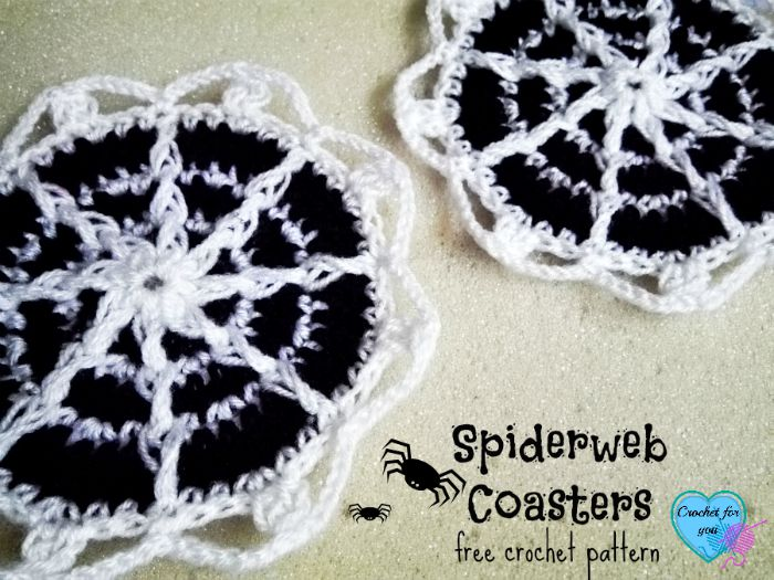 Spiderweb Coasters - free crochet pattern