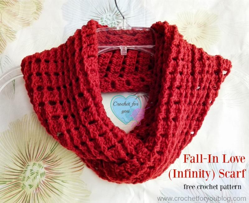 Fall In Love Infinity Scarf Free Crochet Pattern Crochet For You