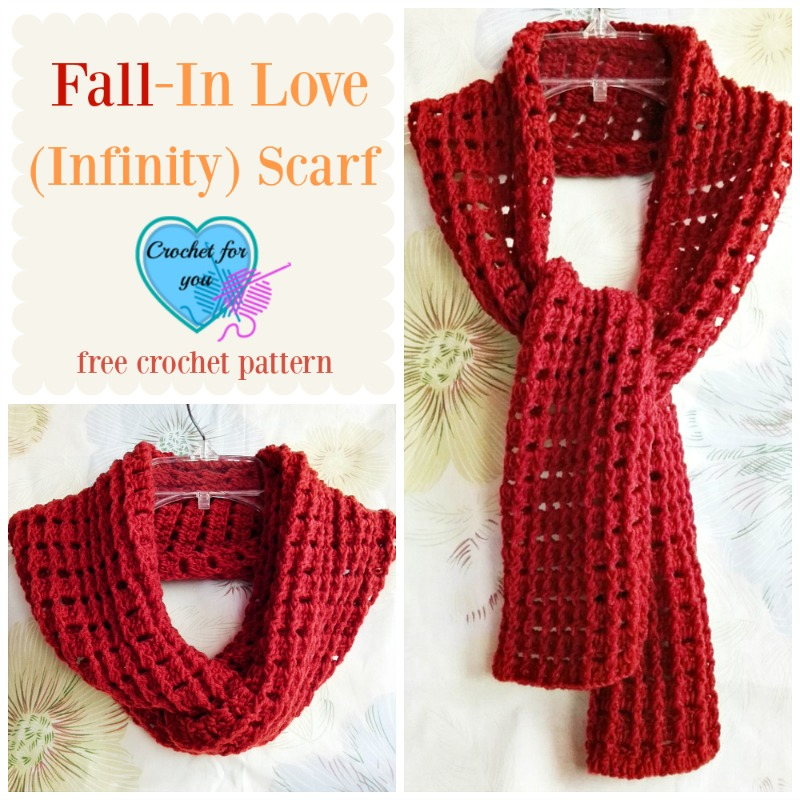 Fall In Love Infinity Scarf Free Crochet Pattern Crochet For You