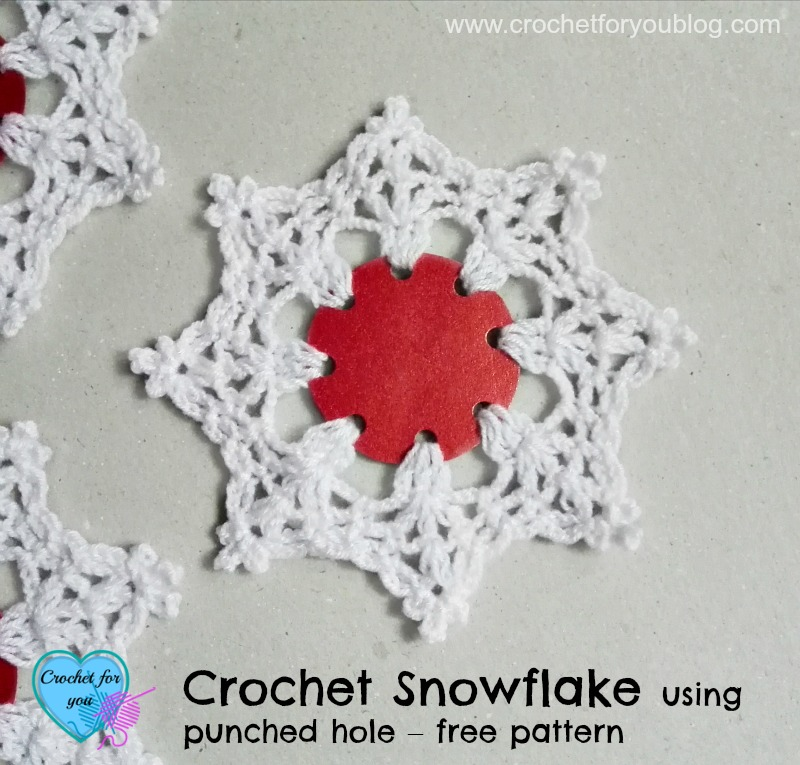 Crochet Stitches With No Holes : Crochet Snowflake using punched hole Free Pattern - Crochet For You