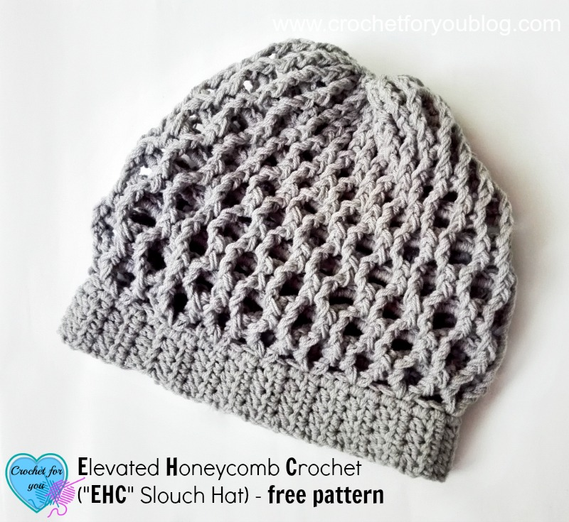 Free Elevated Honeycomb Crochet Slouch Pattern Crochet For You