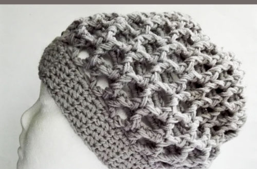 Elevated Honeycomb Crochet Slouch Hat - free crochet pattern