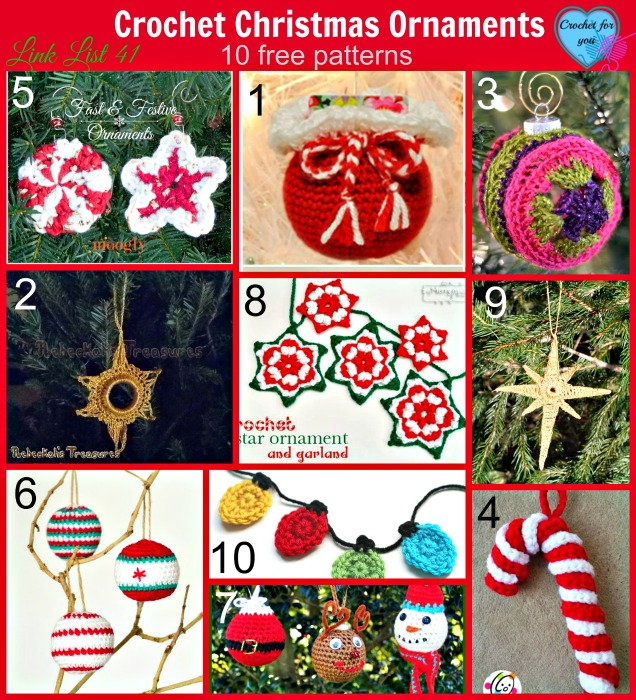 Link list 41: Crochet Christmas Ornaments – 10 free patterns