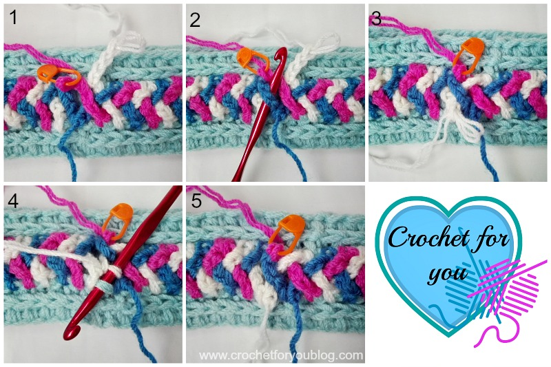 Crochet Braided Chains Headband or Ear Warmer - free pattern