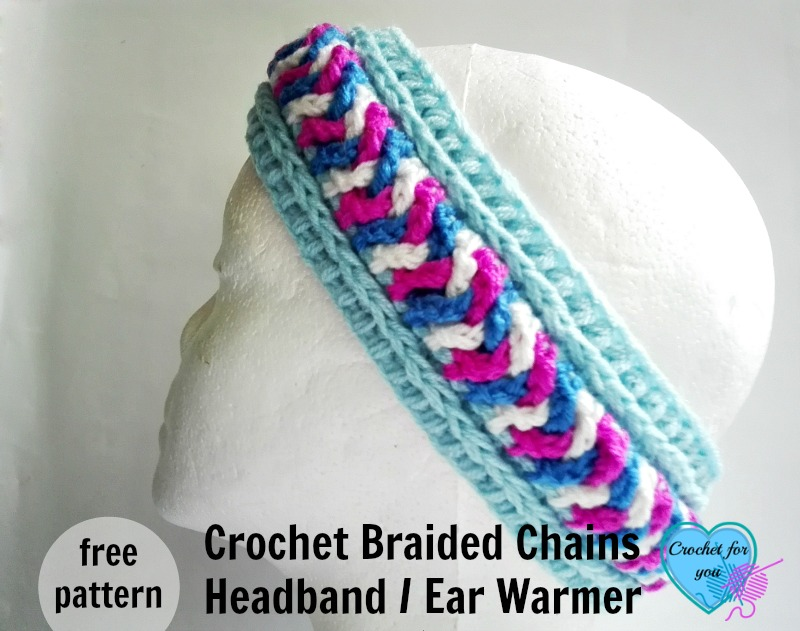 Crochet Braided Chains Headband Ear Warmer Free Pattern
