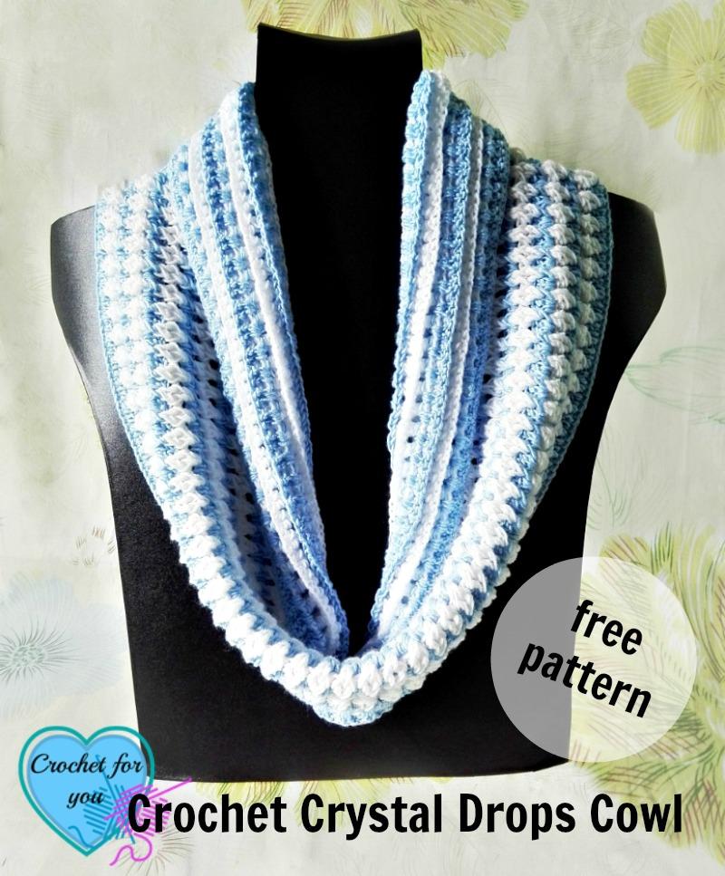 Free Crochet Crystal Drops Cowl Pattern