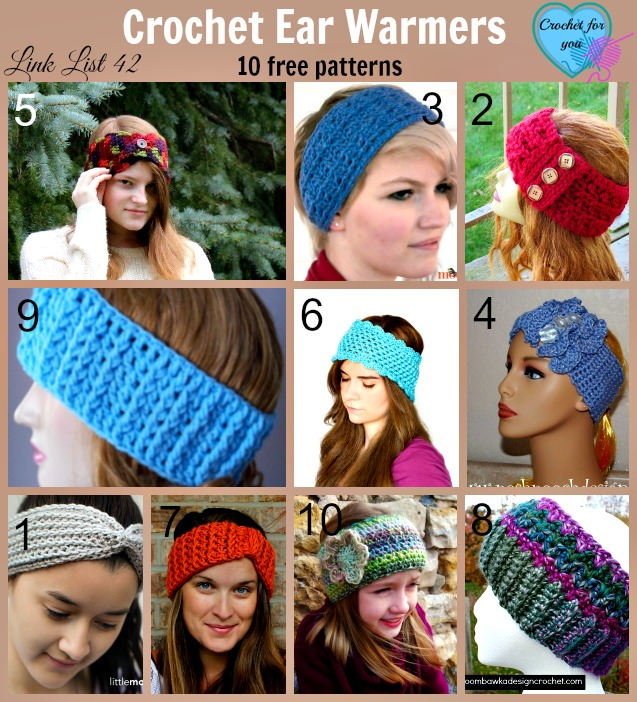 10 Free Crochet Ear Warmer Patterns - Crochet For You