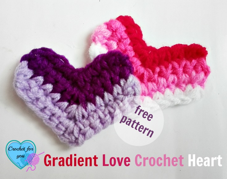 Amigurumi Love Heart Patterns : Free gradient love crochet heart and necklace pattern crochet for you