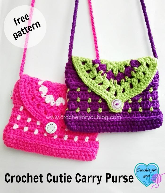 Free Crochet Cutie Carry Purse Pattern Crochet For You