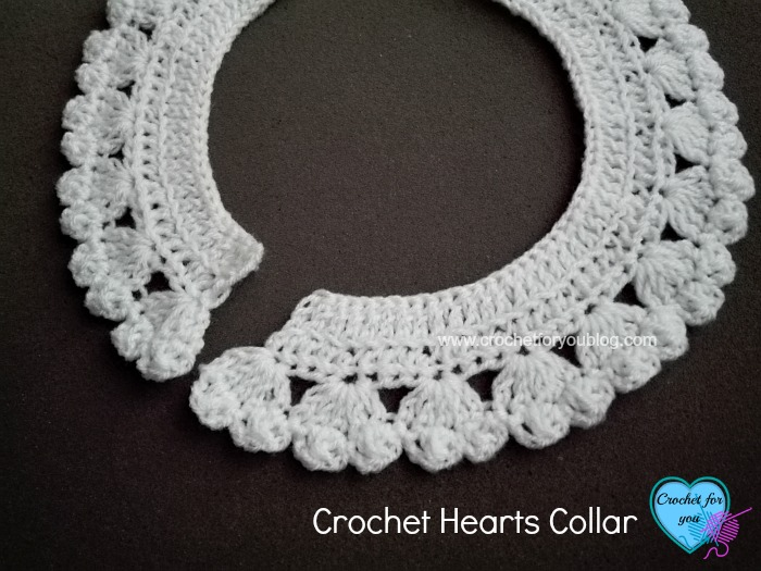 Crochet Hearts Collar And Edging Crochet For You