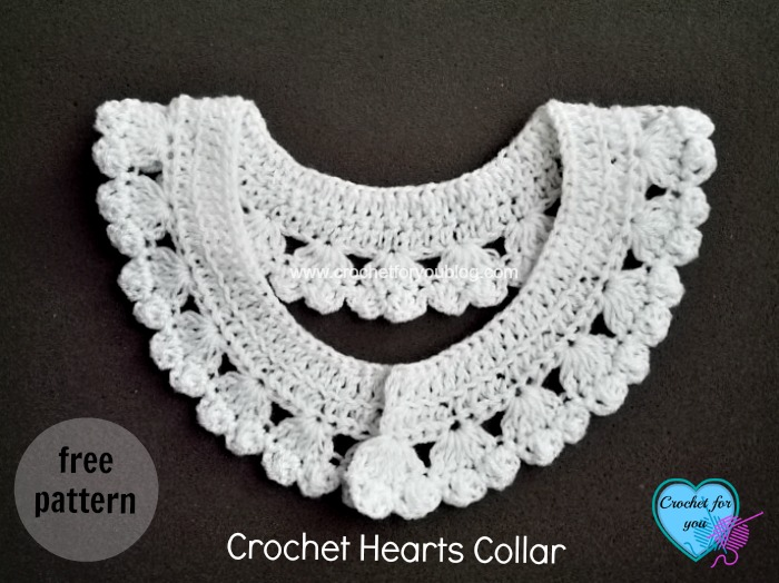 Crochet Hearts Collar and Edging - Crochet For You