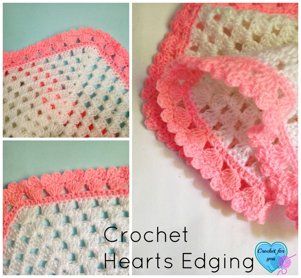 Crochet Hearts edging - free pattern