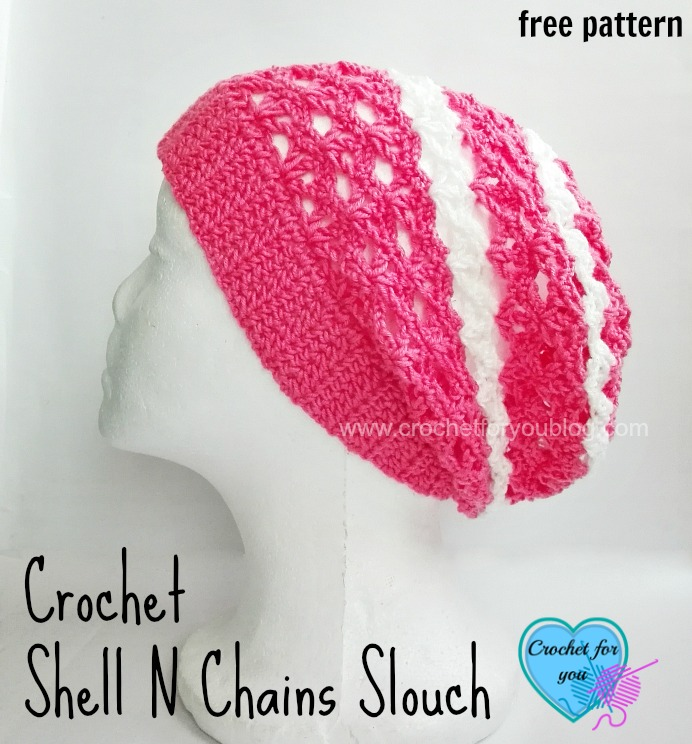 10 free crochet patterns with easy shell stitch crochet for you free crochet shell n chains slouch pattern fandeluxe Images