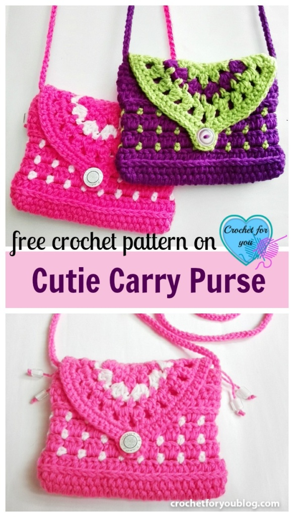 Free Crochet Cutie Carry Purse Pattern - Crochet For You