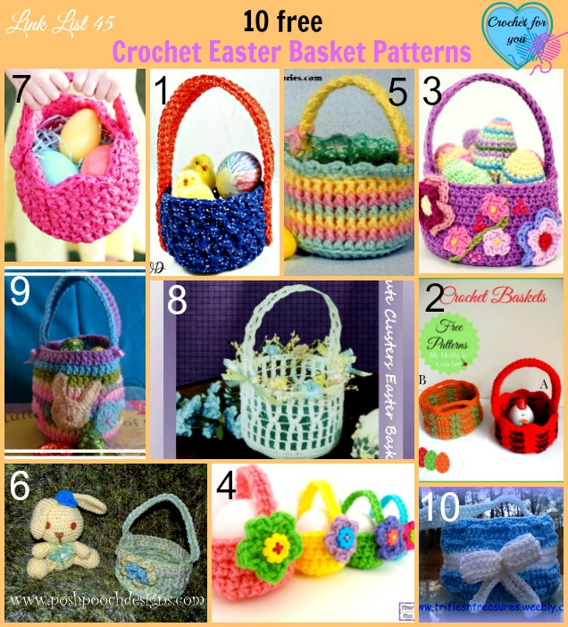 10 Free Crochet Easter Basket Patterns - Crochet For You