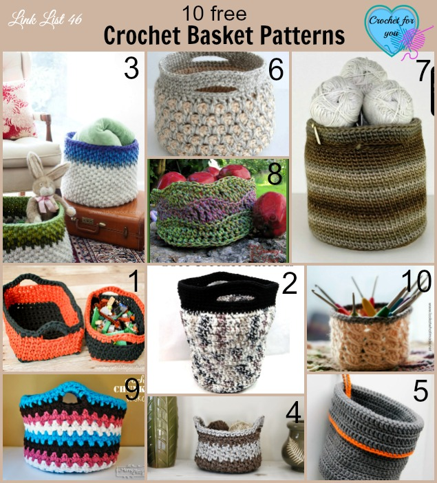 Link list 46: 10 Free Crochet Basket Patterns