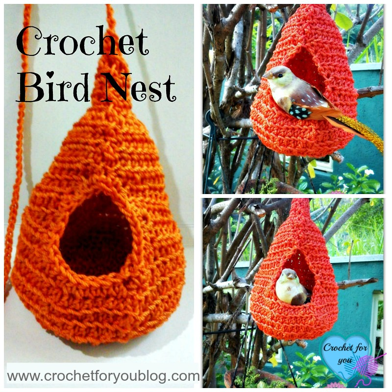Crochet Bird Nest - free pattern