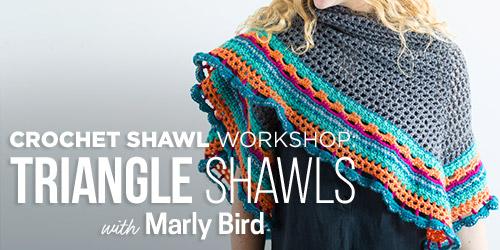 Triangle.shawl workshop at Creativebug