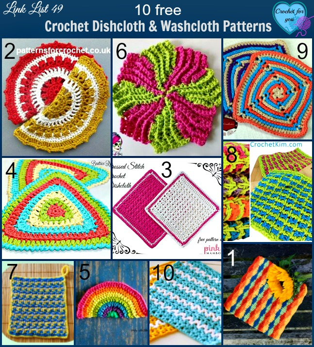 10 Free Crochet Dishcloth And Washcloth Patterns