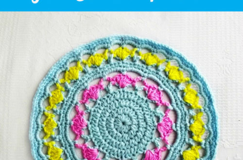 Mandala with Tulips - free crochet pattern
