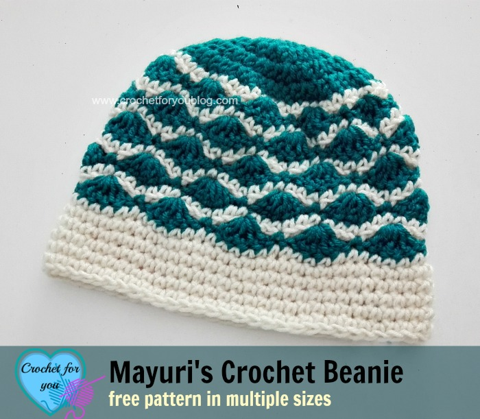 Mayuri 39 s crochet beanie free pattern crochet for you for Fave crafts knitting patterns