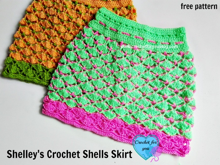 Shelley's Crochet Shells Skirt – free pattern for toddlers