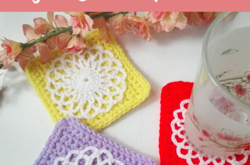 Easy Square Coaster - free crochet pattern