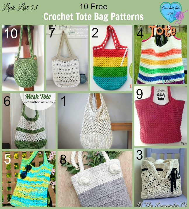 Free Crochet Patterns For Bags And Totes : 10 Free Crochet Tote Bag Patterns - Crochet For You