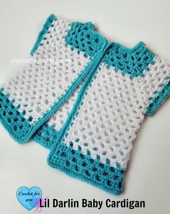 Crochet Lil Darlin Baby Cardigan - free pattern 11 - Crochet For You