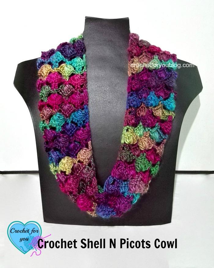 Crochet Shell N Picots Cowl – free pattern