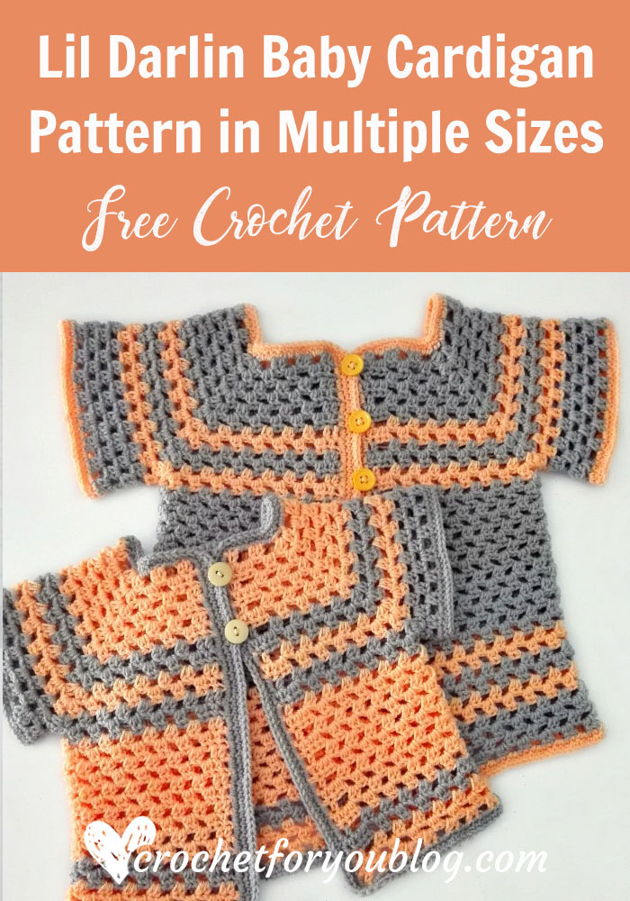 Crochet Lil Darlin Baby Cardigan In Multiple Sizes Crochet For You Stunning Crochet Design Patterns