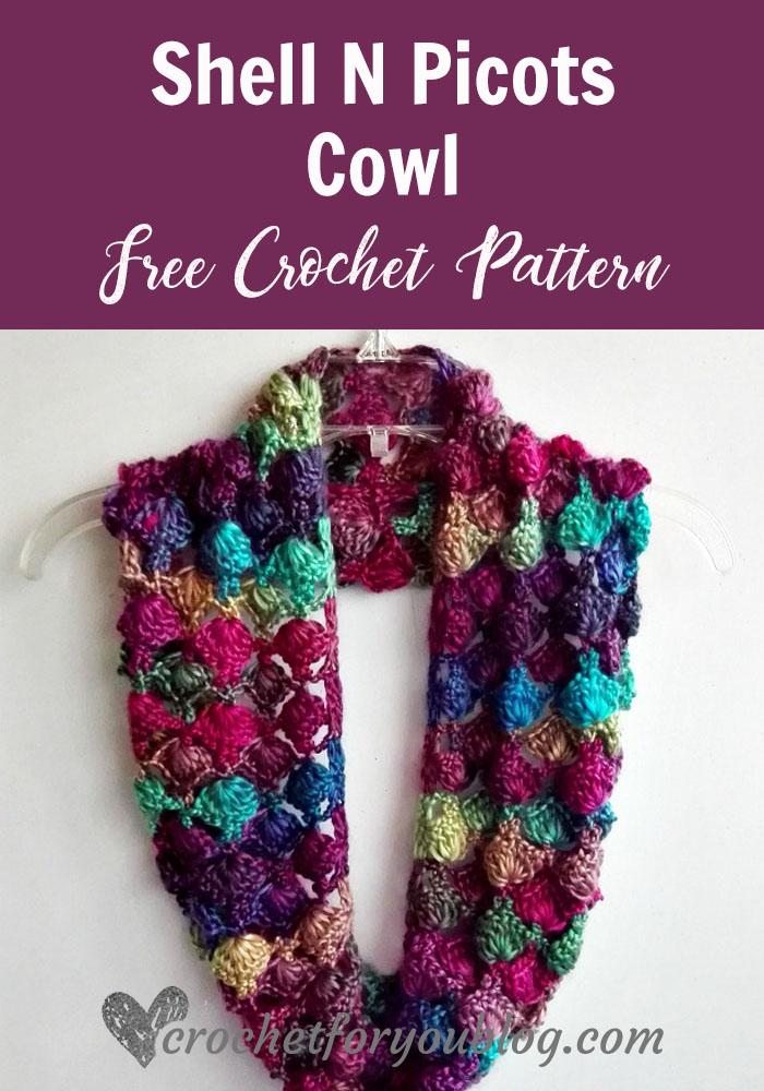Crochet Shell N Picots Cowl Free Pattern Crochet For You