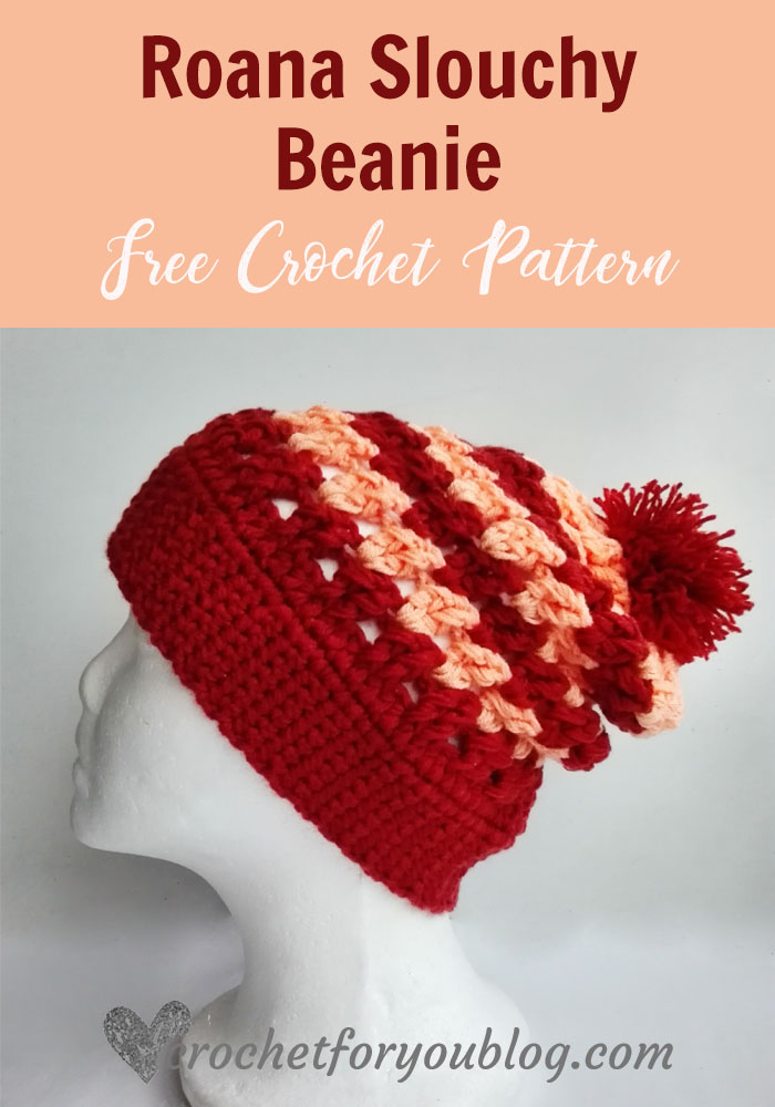 Roana Slouchy Beanie Free Crochet Pattern Crochet For You