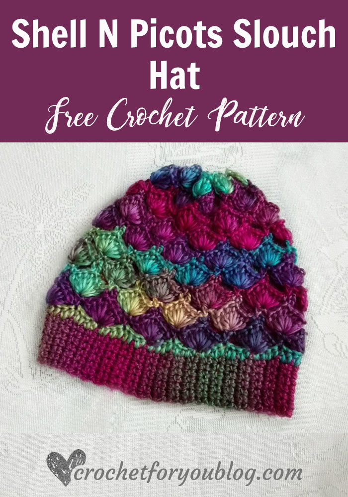 Crochet Shell N Picots Slouch Hat Free Pattern Crochet For You
