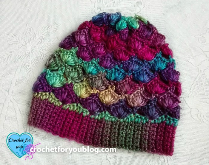 Crochet Shell N Picots Slouch Hat Free Pattern - Crochet For You