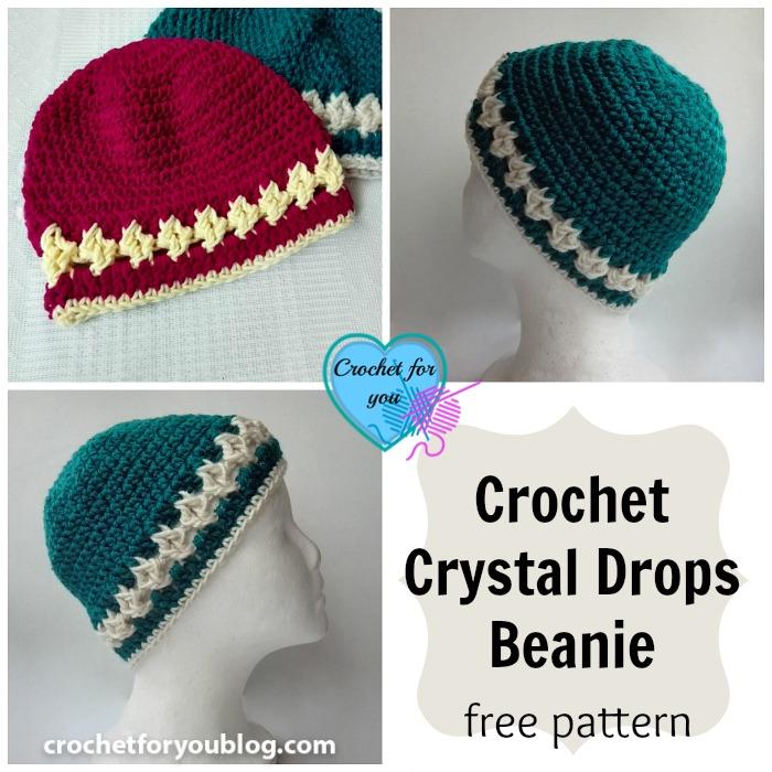 Crochet Crystal Drops Beanie Free Pattern Crochet For You