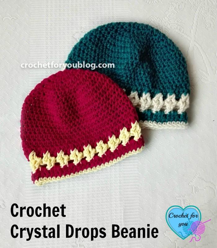 Crochet Crystal Drops Beanie Free Pattern