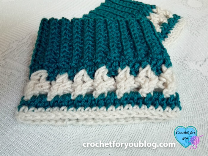 Crochet Crystal Drops Boot Cuffs Free Pattern