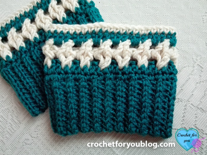 Crochet Crystal Drops Boot Cuffs Free Pattern Crochet For You