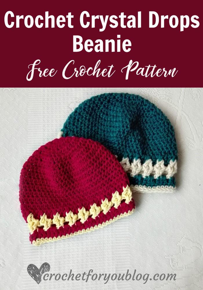Crystal Drops Beanie - free crochet pattern