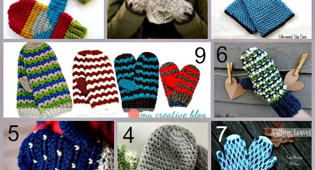 Link list 61: 10 Free Crochet Mittens Patterns for Everyone