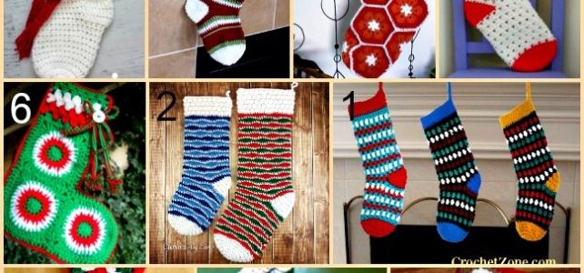 Link list 62: 10 Free Crochet Christmas Stockings Patterns