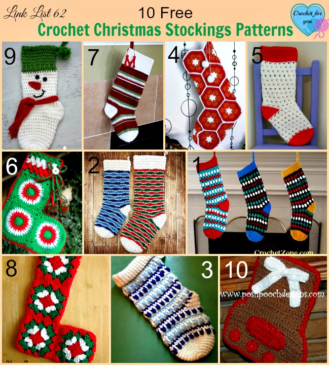 40 Free Crochet Christmas Stockings Patterns Crochet For You Inspiration Free Crochet Christmas Stocking Patterns