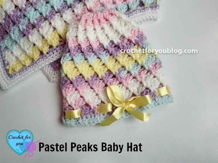 Pastel Peaks Crochet Baby Hat Free Pattern Crochet For You